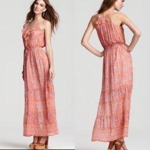 Joie Della Floral Boho Maxi Dress Sz XS